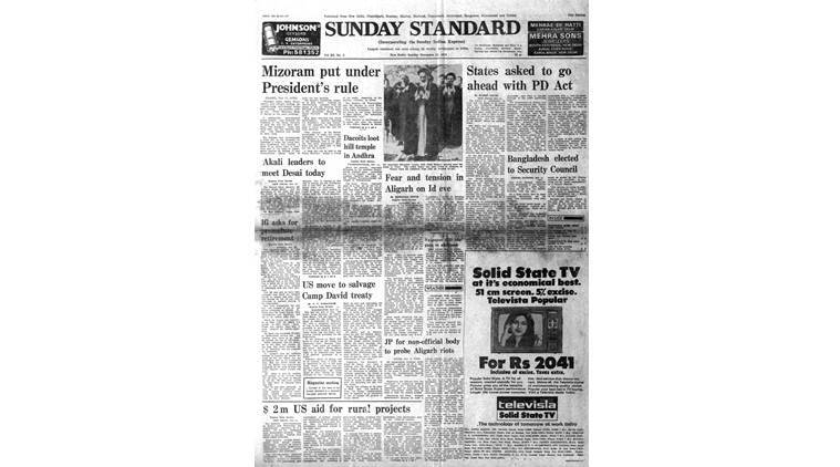 November 12, 1978, Forty Years Ago