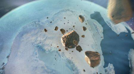 Greenland crater, Greenland ice caps, Ice Age asteroid, crater under glacier, asteroid crater Greenland, Hiawatha Glacier, Ice Age weather, meteorite composition, Greenland ice sheet, animal extinction, Greenland discovery