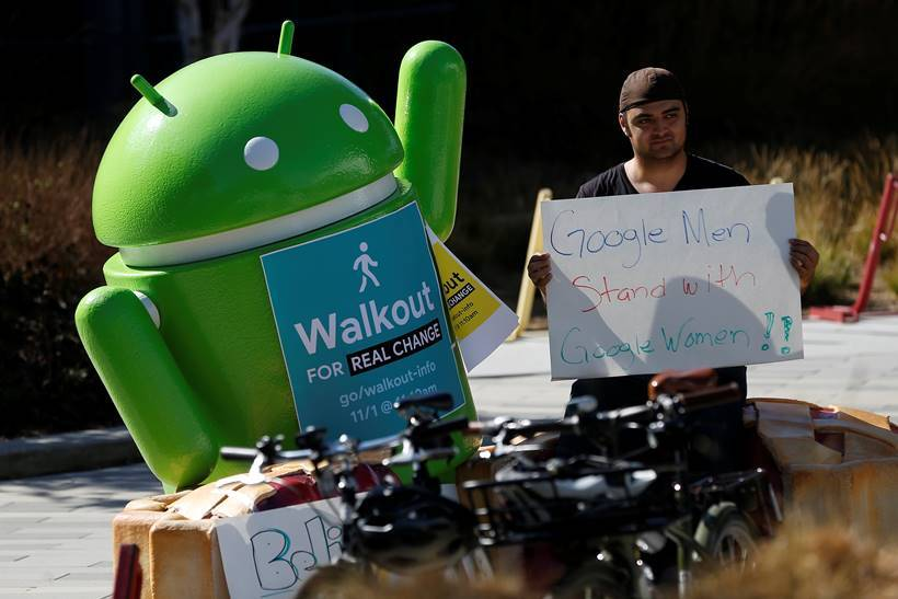 Google employees stage global walkout over handling of sexual harassment scandals