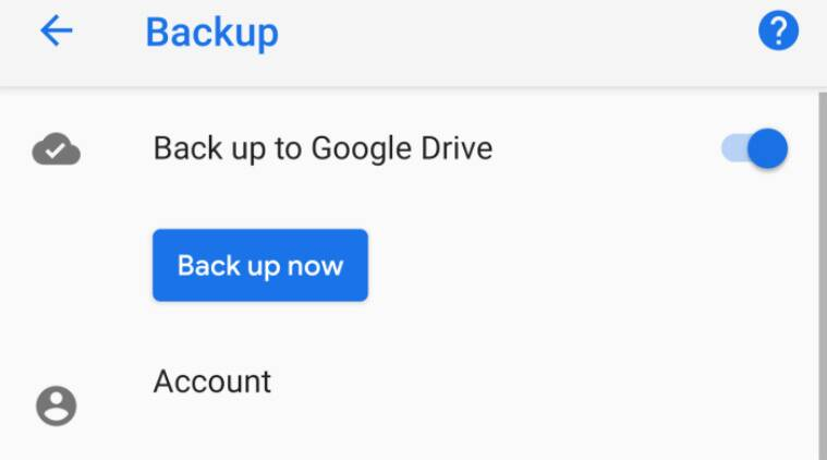 Android Gets the Ability to Manually Back Up Data to Google Drive