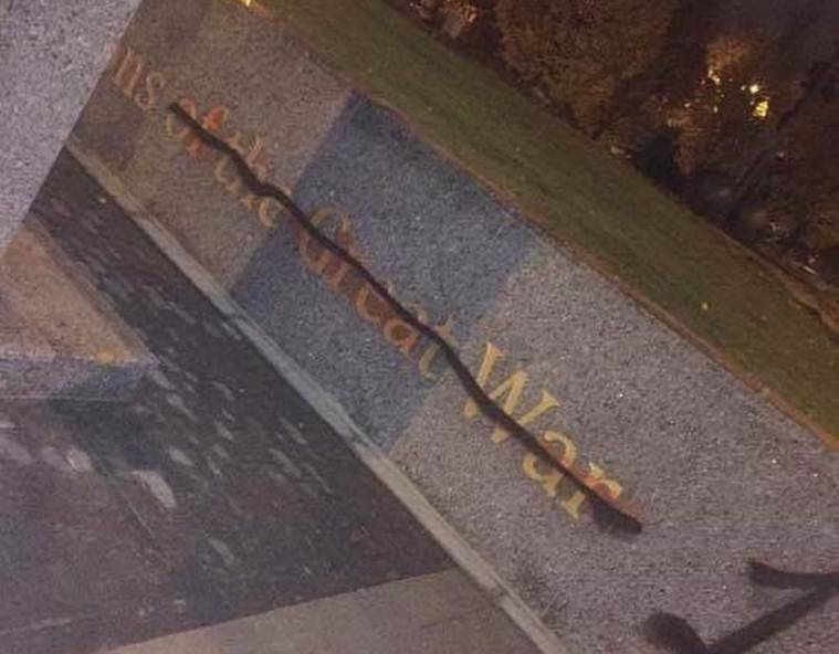 Statue of Sikh soldier vandalised in Smethwick