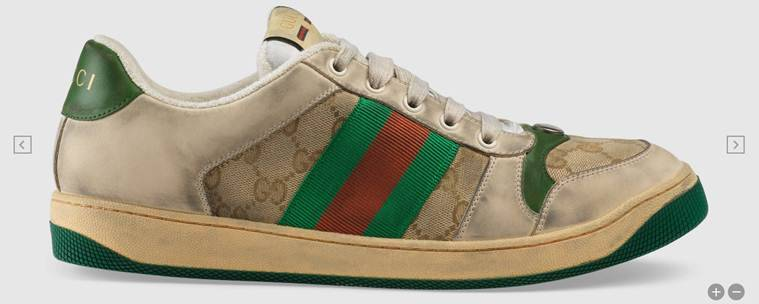 Gucci, Gucci Distressed GG canvas sneakers, Gucci dirty sneakers
