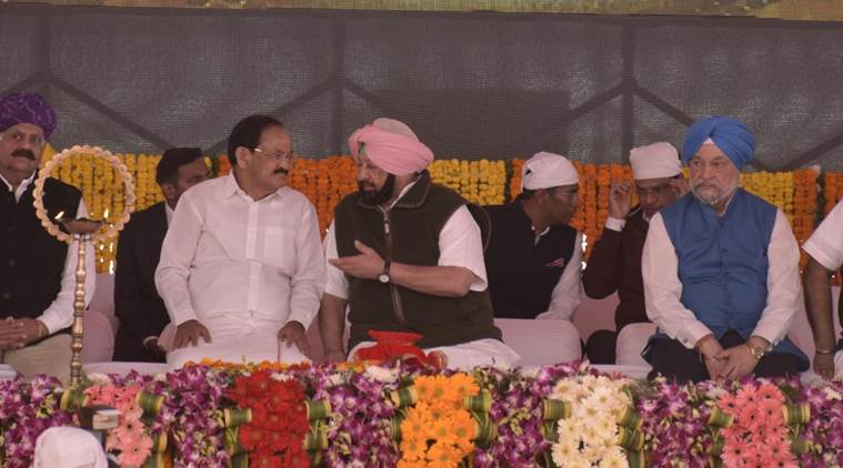"""""""We Punjabis know how to give a befitting reply to such forces,"""" Amarinder Singh said. (Express photo)"""