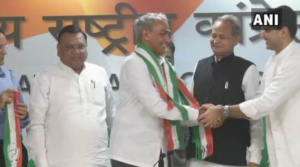 Rajasthan: BJP MP Harish Meena joins Congress weeks ahead of assembly elections