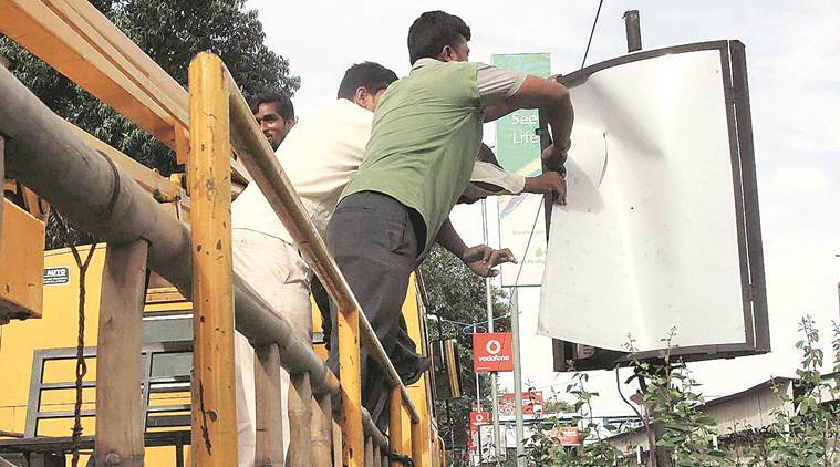 The PMC notice comes a month after the steel frame of a hoarding collapsed killing four and injuring seven at busy Juna Bazar Chowk on October 5.