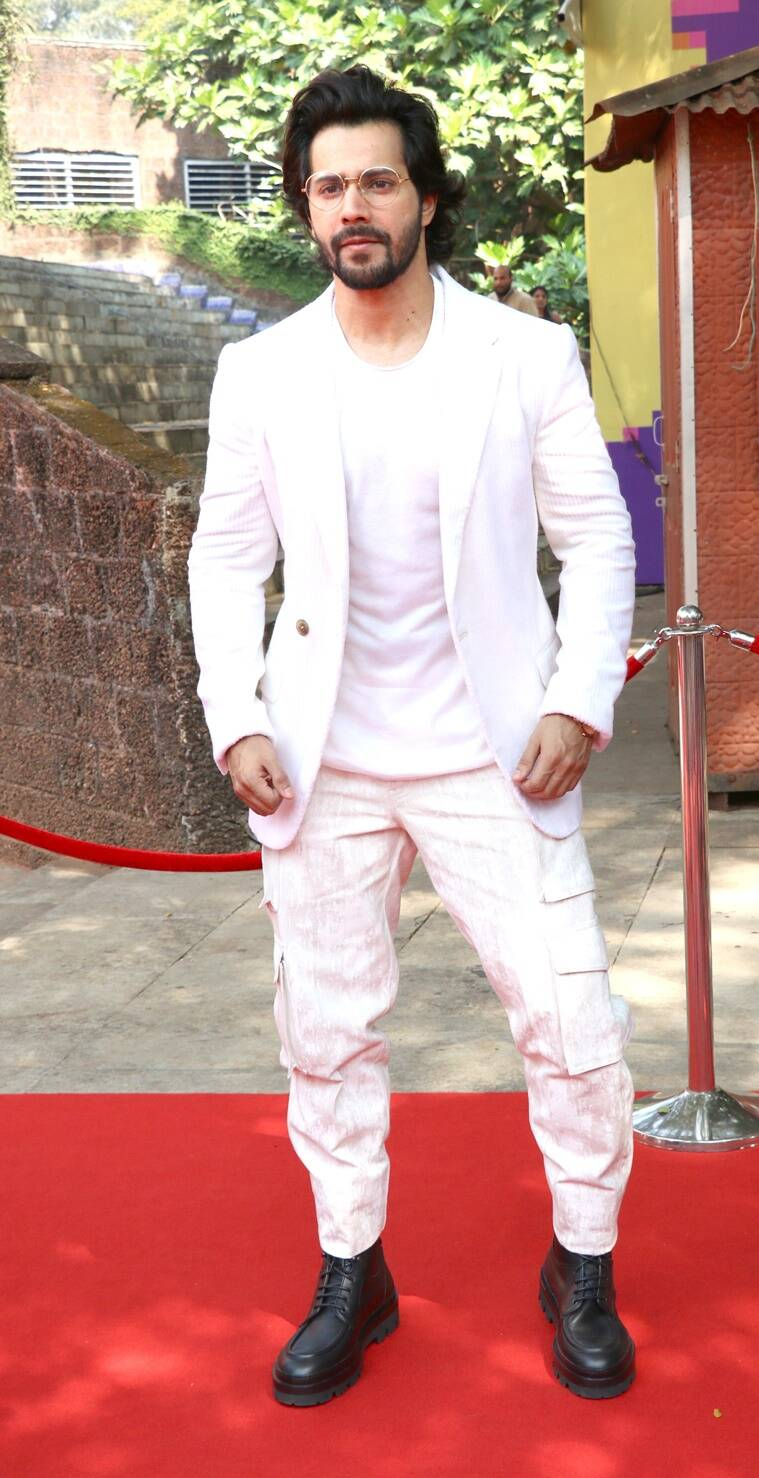Sanon critical, critical Sanon Iffi, critical Sanon Iffi 2018, Sanon critical look at Iffi, Varun Dhawan, Varun Dhawan Iffi looks, Crete Sanon in cherry pink dress, critical look Sanon last, critical Sanon latest photos, news Indian Express, Indian Express