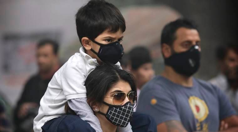 Central Pollution Control Board (CPCB) data showed the overall AQI at a 'poor' 269.