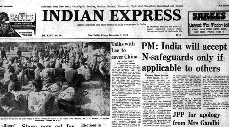 indian express archives, indian express, December 1, 1978, Forty Years Ago: PM on nukes