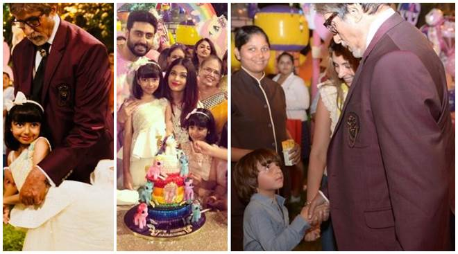 Inside Aaradhya Bachchan's birthday bash: Amitabh and Abram's interaction is too cute for words