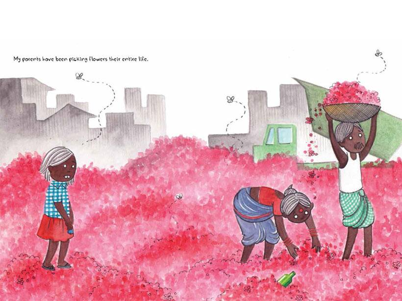 childrens picture book, manual scavenging