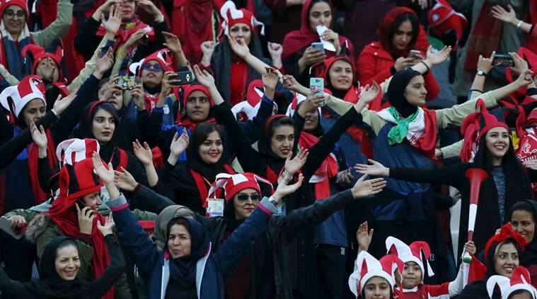 Iranian campaigners hope female presence at games can continue