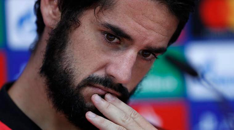 Isco attends a press conference