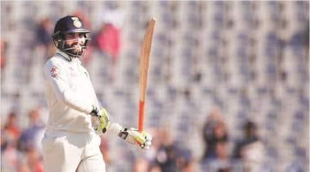 Ravindra jadeja, Jadeja unbeaten 178, Ranji trophy, Jadeja hits hundred against railways,Kamlesh Makvana, Indian Express