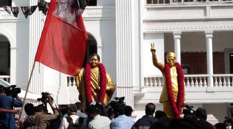 AIADMK unveils new statue of Jayalalithaa to replace the one that didn't resemble her