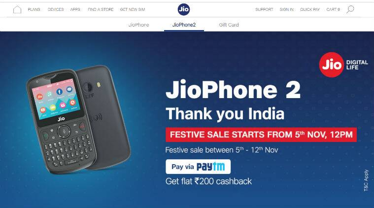 Jio Diwali 2018 Dhamaka offer  Reliance JioPhone 2 open sale begins ... fac9bc3792af