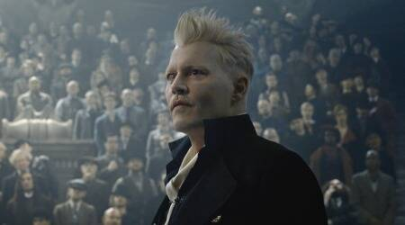 Johnny Depp as Gellert Grindelwald in Fantastic Beasts: The Crimes of Grindelwald.
