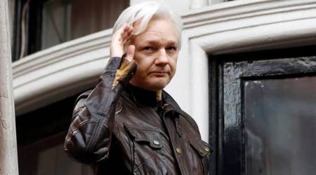 WikiLeaks founder, julian assange, julian assange extradition, julian assange prison term, julian assange arrest, wikileaks founder julian assange, assange ecuador embassy, Ecuadorian Embassy, London, latest news, Indian Express