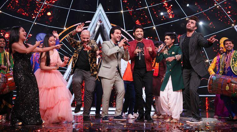 Kapil Sharma on the sets of Indian Idol 10