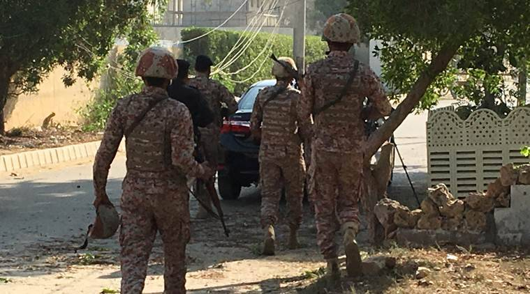 Explosion, gunshots heard outside Chinese Consulate in Karachi, two cops killed