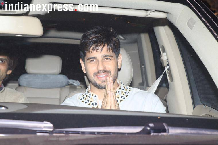 Sidharth Malhotra at karan johar party