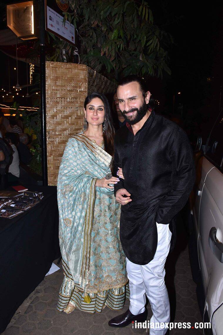 saif and kareena at prithvi theatre anniversary