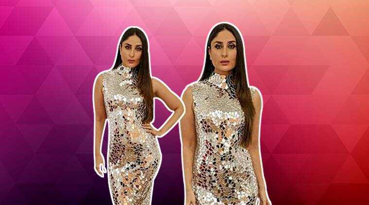 kareena kapoor, kareena kapoor khan, kareena kapoor khan, kareena kapoor Social media Summit Awards, kareena kapoor mirror dress, kareena kapoor Atelier Zuhra, indian express, indian express news