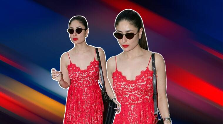 Kareena Kapoor Khan Looks Ravishing In This Red Lace Dress