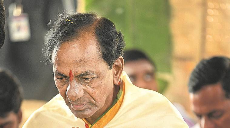From talk of triumph, KCR falls back on Telangana pride and God