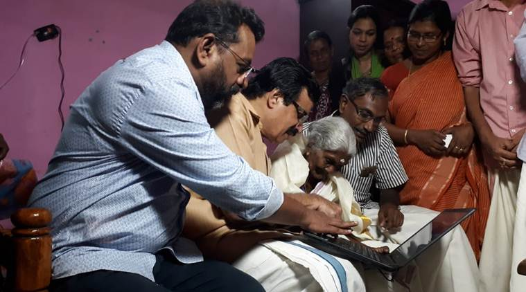 Kerala: 96-year-old who cleared literacy exam wanted to learn computer, education minister gifts her one