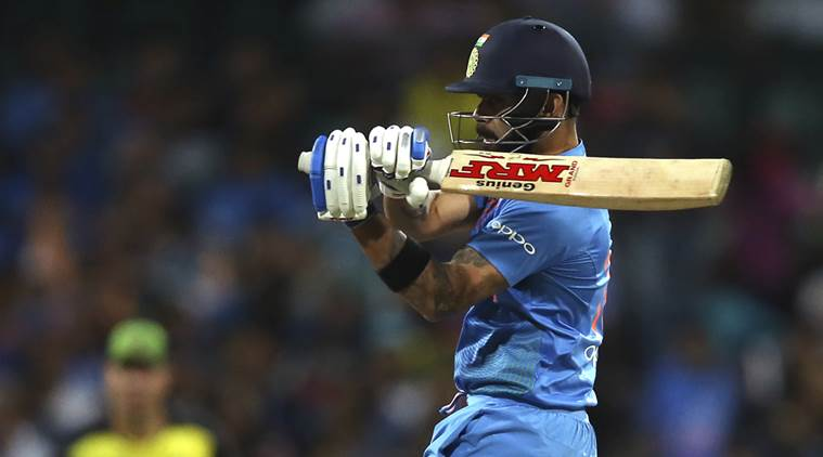 Virat Kohli played 61 runs unbeaten knock in the third T20I against Australia (photo - getty)