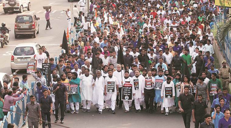 Protests over killings of Bengali-speaking people in Assam;TMC, Congress, Left say deaths outcome of NRC