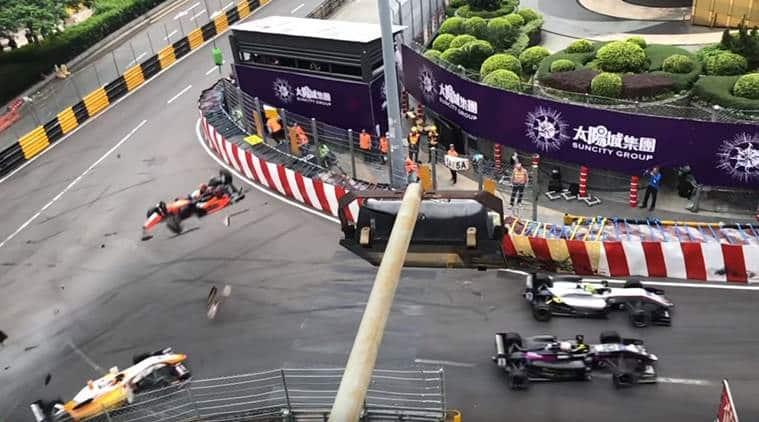 macau grand prix, macau grand prix crash, macau gp crash, macau gp crash video, formula 3 crash, F3 crash, Sophia Floersch, Sophia Floersch update, indian express news