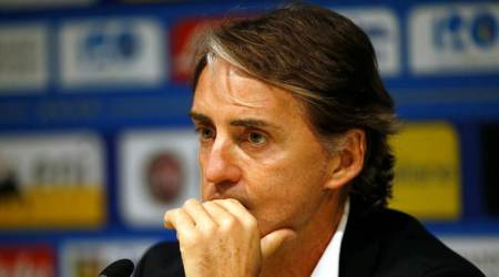Italy coach Roberto Mancini during the press conference