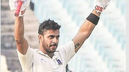 Wary of the axe, Tiwary hits 201*