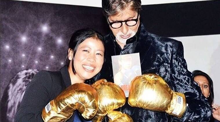 amitabh bachchan with mary kom