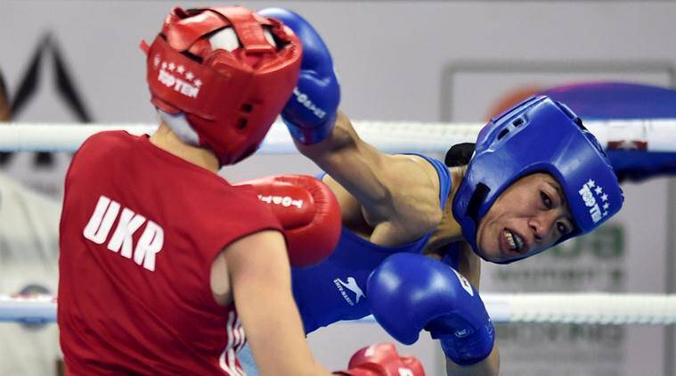 Mary Kom in action