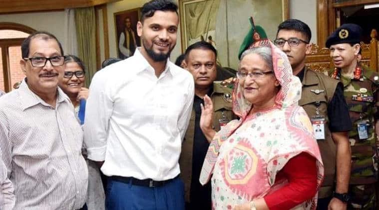 Mashrafe Mortaza with Sheikh Hasina
