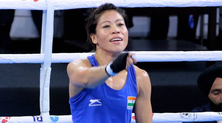 Mary Kom, Mary kom boxing, Mary Kom wins, mary kom boxing results, mary kom record, mary kom record title, mary kom boxing news, boxing news, boxing world championships, indian express