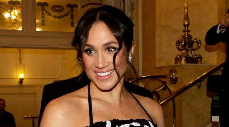meghan markle, prince harry, meghan markle recent photos, meghan markle prince harry latest photos, meghan markle pregnancy, royal variety show, meghan markle royal variety show, celeb fashion, the royals, the royals fashion, meghan markle fashion, indian express, indian express news