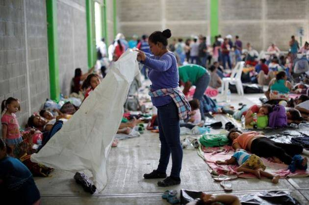 A day in the life of the migrant caravan in Mexico