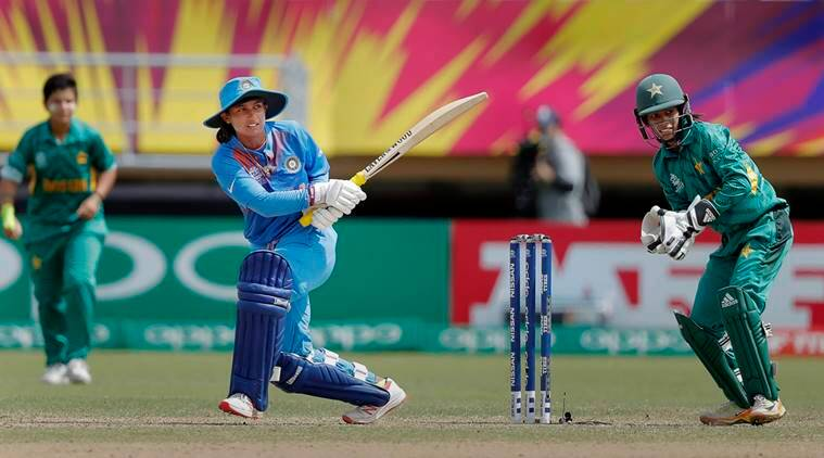 India's Mithali Raj plays a shot during Women's World T20 cricket match against Pakistan at Providence