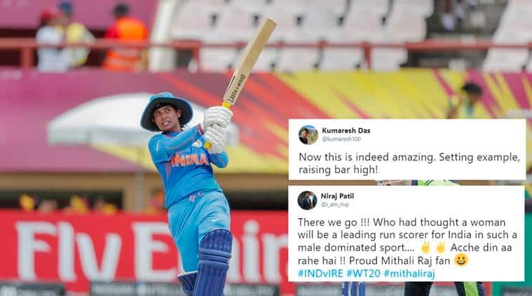 Mithali Raj, highest indian t20 runs, Mithali Raj t20 record, Mithali Raj cricket record, ICC women world t20, cricket news, indian express, sports news