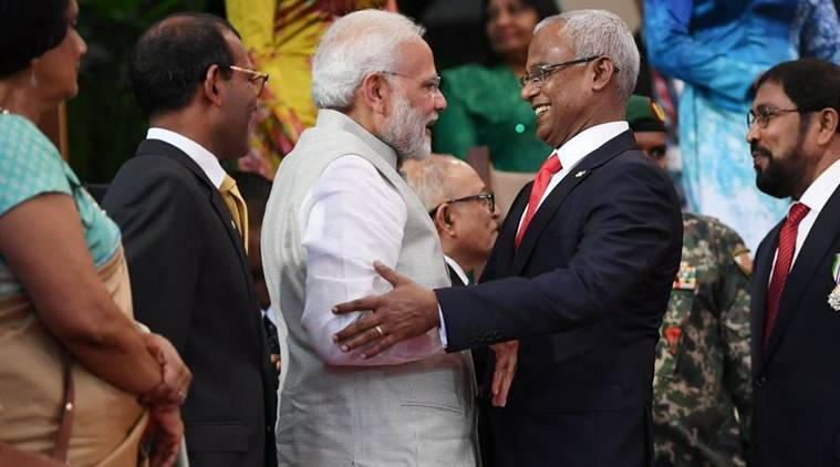 With hug, promises, PM Modi reaches out to Maldives President