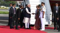 PM Modi arrives in Maldives to attend swearing-in of President-elect Solih