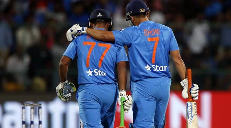 Image result for Pant and Dhoni Indian Express
