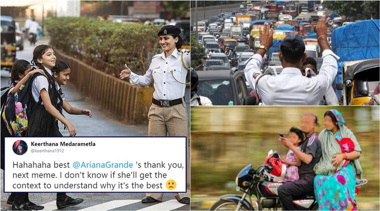 thank u next, mumbai police, thank u next memes, ariana grande, mumbai police thank u next meme, indian thank you next memes, desi thank you next memes, viral memes, indian express, viral news,