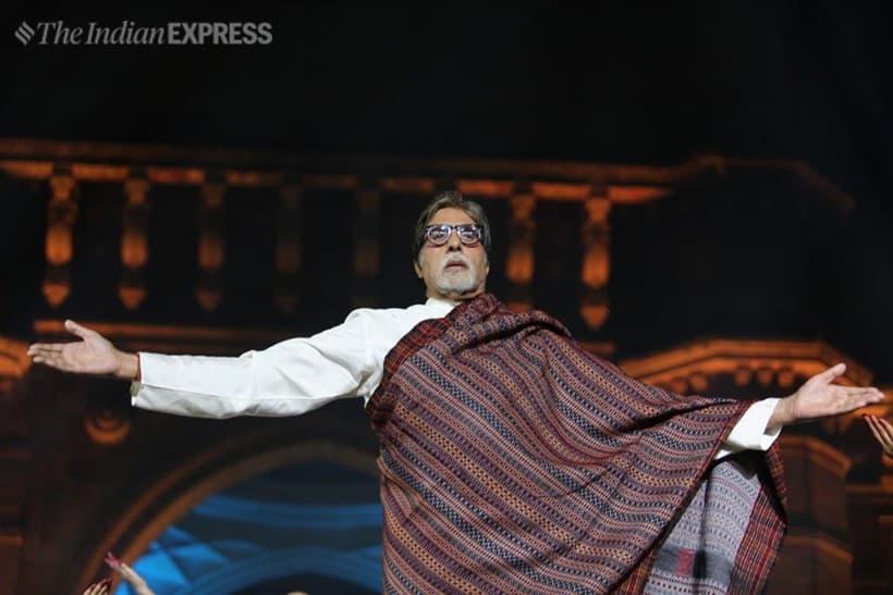 Amitabh Bachchan at the 26/11 memorial event in Mumbai. (Express photo by Nirmal Harindran)