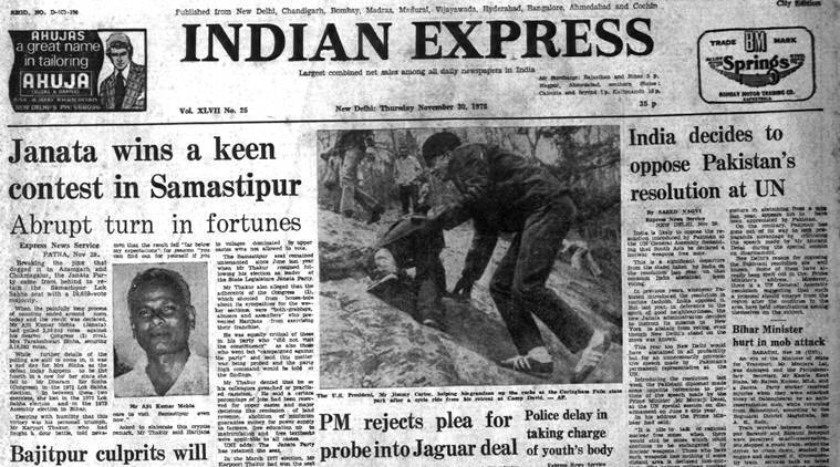 indian express, indian express archives, 40 years ago, world news, india news