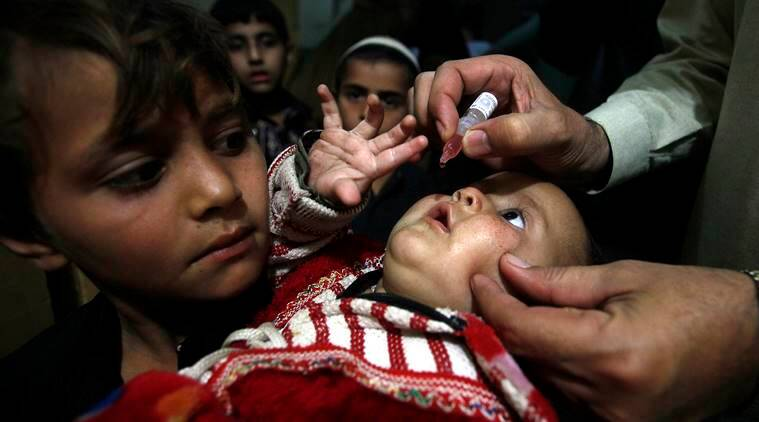 polio vaccination, polio vaccination pakistan, polio endemic, polio eradication campaign, fake polio markers, world news, indian express