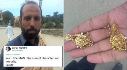 Pakistani labourer, who returned lost pair of gold earrings to owners, is winning hearts online